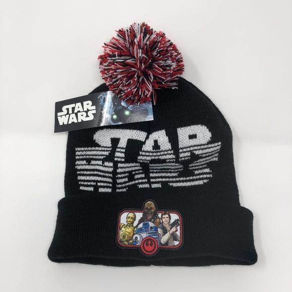 69a3d2718 STAR WARS BEANIE HAT CUFF BLACK Boutique